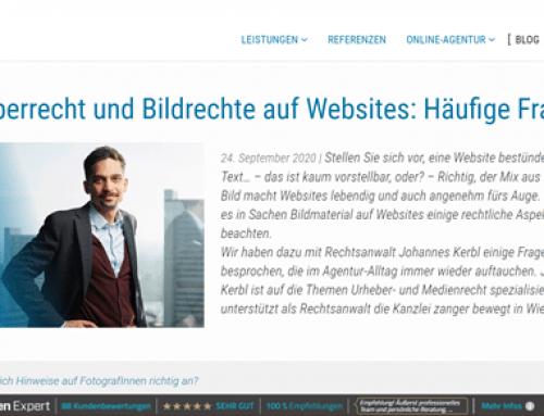 Ing. Johannes Kerbl LL.M. im Gespräch zum Thema: Urheberrecht und Bildrechte auf Websites