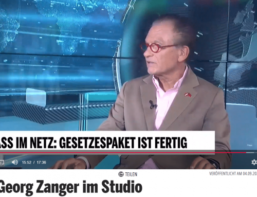 Prof. Dr. Georg Zanger im Studio OE24