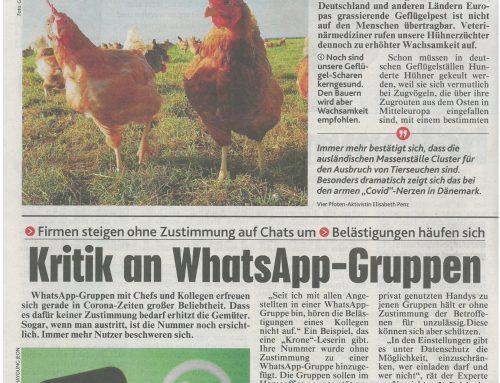 "Johannes Kerbl 律师在对话中谈论:数据保护 ""批评WhatsApp群组"""