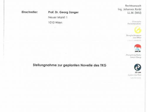 Stellungnahme zur geplanten Novelle des TKG